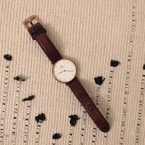 Daniel Wellington Classic Gold Brown Leather Strap